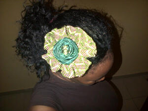 Ankara hair piece @N2500/£10
